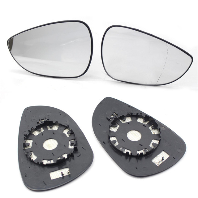 Car Styling Left Right New Outer Side Rearview Mirror Lens Glass For Ford Fiesta 2008-2013 Expand Vision Car Rearview Mirrors