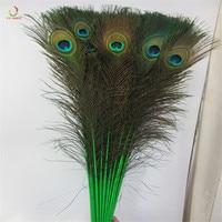 100 шт./лот высококачественные натуральные перья павлина DIY декоративные 72-80 см/29-32 дюйма перья украшения зеленое перо павлина