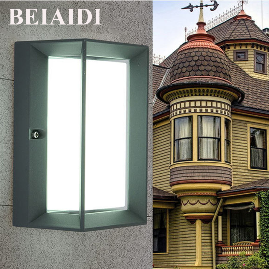 BEIAIDI IP54 Waterproof 10W LED Outdoor Wall Lamp Villa Courtyard Corridor Porch Light Courtyard Garden Aluminum Led Porch Lamps modern villa porch light led wall light outdoor waterproof ip54 modern porch light led indoor outdoor wall lamps garden lamp
