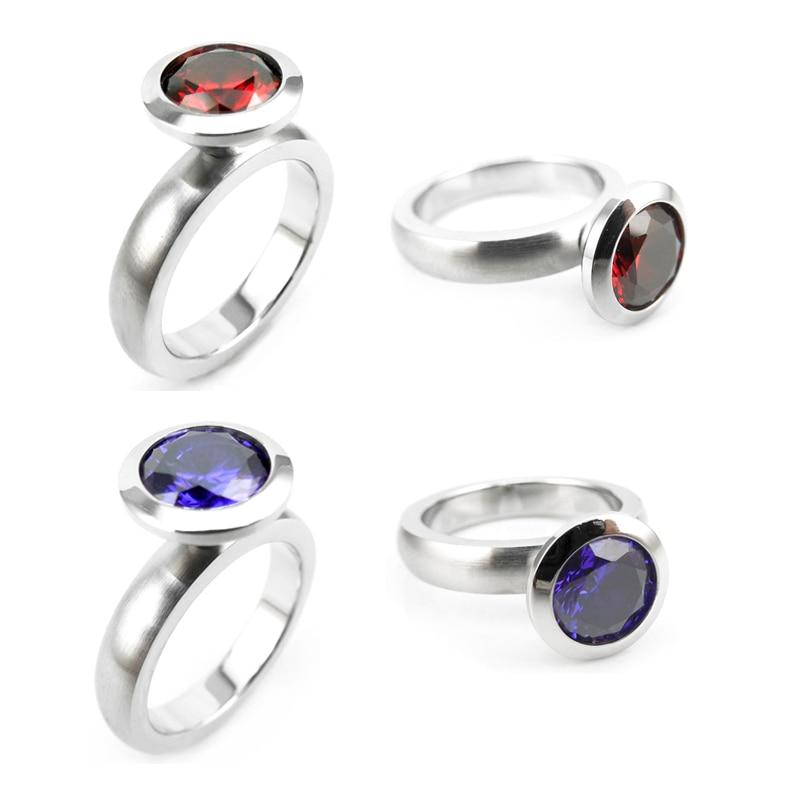 R01-4 stainless steel DIY ring 12 birthstone