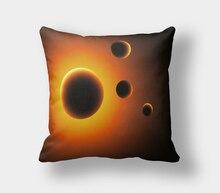IKathoME Chic Estrellas Paisaje Galaxy Fundas de Almohada Throw Soft Funda de Almohada Funda de Cojín Decorativo Sofá Almohada 40,50, 60×60