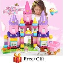 109PCS Girls Princess Castle Building Blocks Sets Compatible legoergy Duplo Horse Friends Figures Creator Bricks Toys for