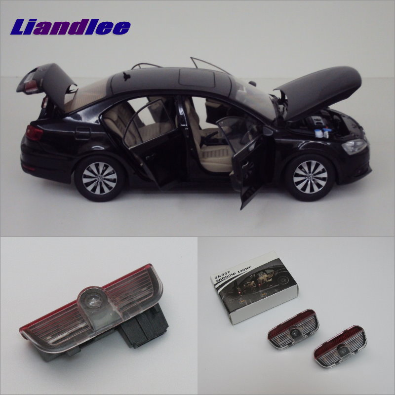 Liandlee Car LED Courtesy Welcome Lights For VolksWagen VW Sagitar 2006~2015 Projector Light Vehicle Door Lamp