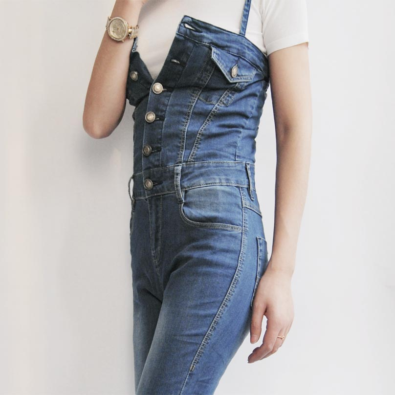 662e298345f Free Shipping 2019 Jeans Fashion Plus Size 24 30 Pants For Tall Women High  Quality Overalls Jumpsuit And Rompers Denim Trousers-in Jumpsuits from  Women s ...