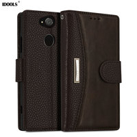 IDOOLS Case For Sony Xperia XA2 XA 2 High Quality PU Leather Cover Wallet Phone Bags
