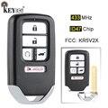 KEYECU 433 МГц ID47 чип FCC: KR5V2X Замена 4 + 1 5 кнопочный дистанционный смарт ключ-брелок для Honda Piot CR-V Civic 2016 2017 2018 2019