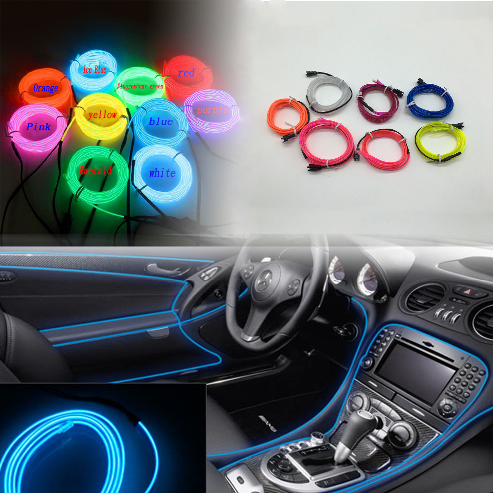 Nice 3m EL Decorative Strip Light Car Interior Lights Ambient Lighting Retrofit  Body Trim Interior Led Cold Light In Car Light Assembly From Automobiles ...