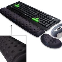 BRILA Memory Foam эргономика мышь и клавиатура подставка под запястье подушка для офисной работы и ПК Игр, боль в запястье облегчение