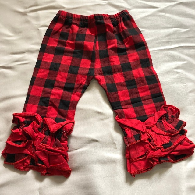 9877200fc New arrival Persnickety Baby Girls party trousers ruffle pants christmas kids  toddler red black plaid prints icing pants