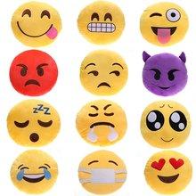 12 Estilos Emoji Cara Sonriente Linda Juguete de Felpa Sofá Decoraciones Suave Amarillo Ronda Cojín Almohada de Peluche de Felpa Muñeca de Juguete