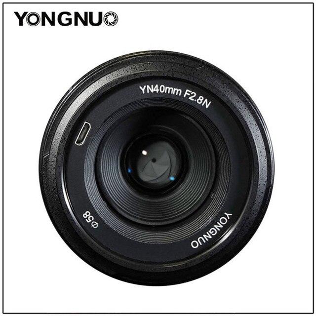 YONGNUO 40 MM YN40mm F2.8N Ống Kính F2.8N Nhẹ Tiêu Chuẩn Thủ Ống Kính Cho Máy Nikon D5300 D3400 D7200 D3100 D3200 d5100 MÁY Ảnh DSLR