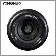 YONGNUO – objectif 40MM yn40 MM F2.8N F2.8N, pour appareils photo Nikon d5300 d3400 d7200 d3100 d3200 d5100 DSLR