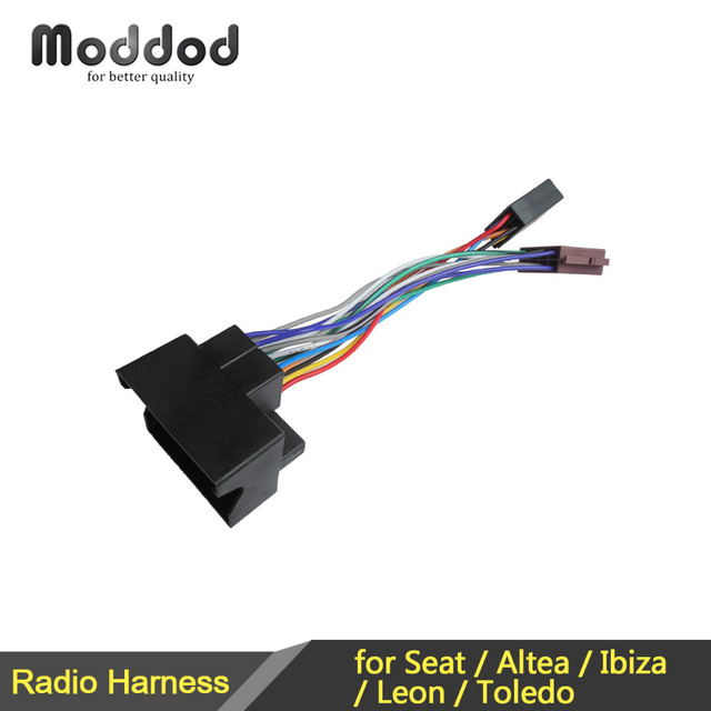car iso wiring harness for seat altea ibiza leon toledo radio wire cable  adaptor connector plug
