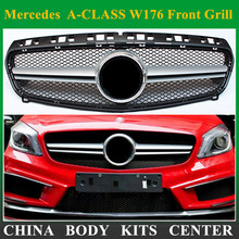 AMG Style W176 ABS Black Front Grill Grille for Mercedes Benz A-CLASS A180 A200 A260 A45 AMG 2013 2014 2015