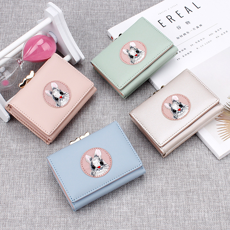 99f2e35f0c698 Unishow Cartoon Rabbit Women Wallet Cute Animal Girl Purse Brand Design  Small Ladies Wallet Mini Coin Purse Female Card Holders-in Wallets from  Luggage ...