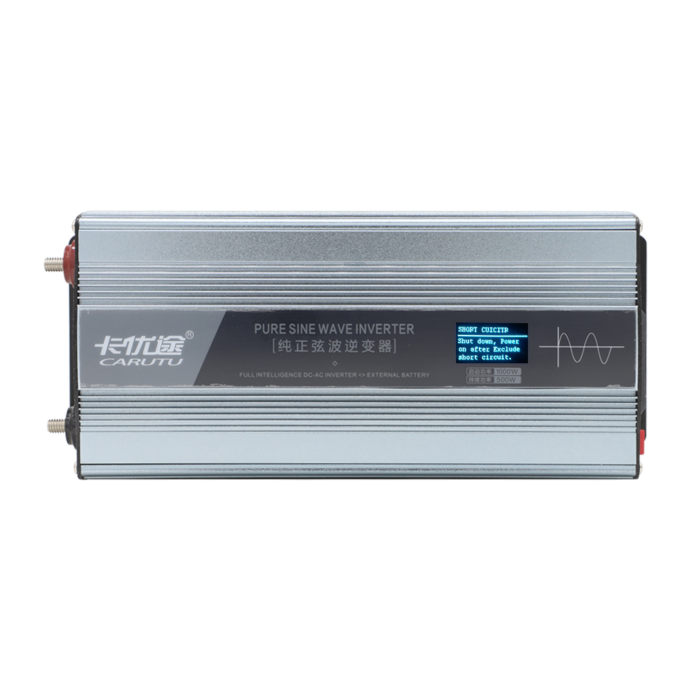 excellent full sustain 500W pure sine wave solar inverter 12V to AC 220V with fault prompts display and reverse wire protectionexcellent full sustain 500W pure sine wave solar inverter 12V to AC 220V with fault prompts display and reverse wire protection