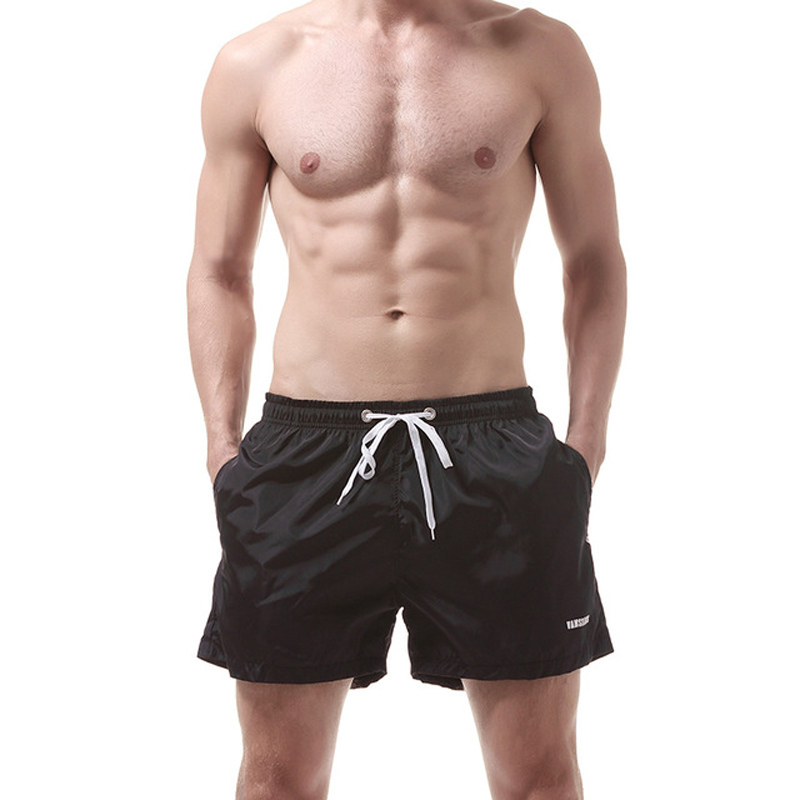 Beach   Short   Drawstring Side Pocket Quick Dry Anti Sweat Solid   Board     Shorts   Sport   Shorts   Men Swimwear Swimming Running Wear Surf