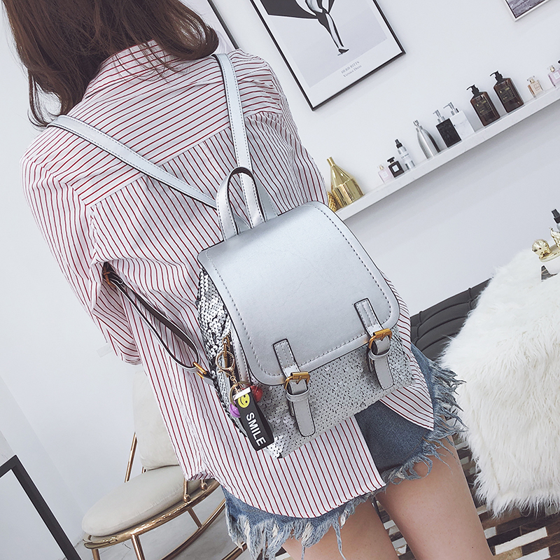 fc78555f92 LEFTSIDE Fashion Sequins Women Backpacks Large capacity leisure Backpack  Female Back Pack For Teenage Girls Cute Travel Bags -in Backpacks from  Luggage ...