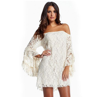 Sexy Gown Kostuums de Schouder Flare Mouwen Lange Mouwen Night Winkel Jurk Kleding voor Vrouwelijke Een Stuk Gown CA281