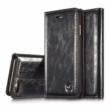 CaseMe For iPhone 6 6s Luxury Retro Leather Stand Flip Phone Cases Card Slot Wallet Cover Back Case For iPhone 6 / 6S caseme for iphone 6s plus 6 plus wallet retro split leather cover with detachable pc case blue
