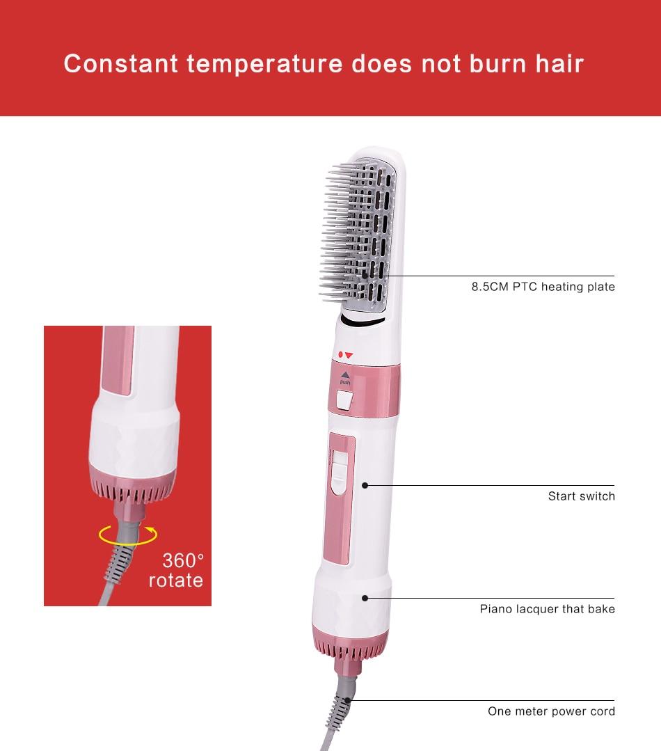 Wenyi Merek Pro Hair Curler Pengering Sisir Curling Pengeringan Gtr Magnetic Belt Pelangsing Fungsi 2 In 1 Styling Salon Alat Set Rambut Multifungsi
