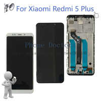 "5.99"" New For Xiaomi Redmi 5 Plus Full LCD DIsplay + Touch Screen Digitizer Assembly With Frame For Redmi 5Plus MEG7 Replace"