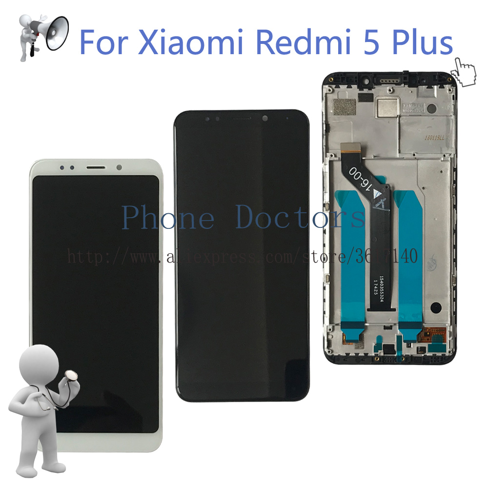 5.99 New For Xiaomi Redmi 5 Plus Full LCD DIsplay + Touch Screen Digitizer Assembly With Frame For Redmi 5Plus MEG7 Replace