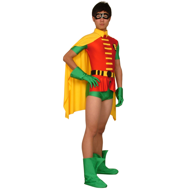 Robin costume adult superhero cosplay bodysuit zentai adult halloween costumes for men jumpsuits party Tights skin Robin costume-in Holidays Costumes from ...  sc 1 st  AliExpress.com & Robin costume adult superhero cosplay bodysuit zentai adult ...