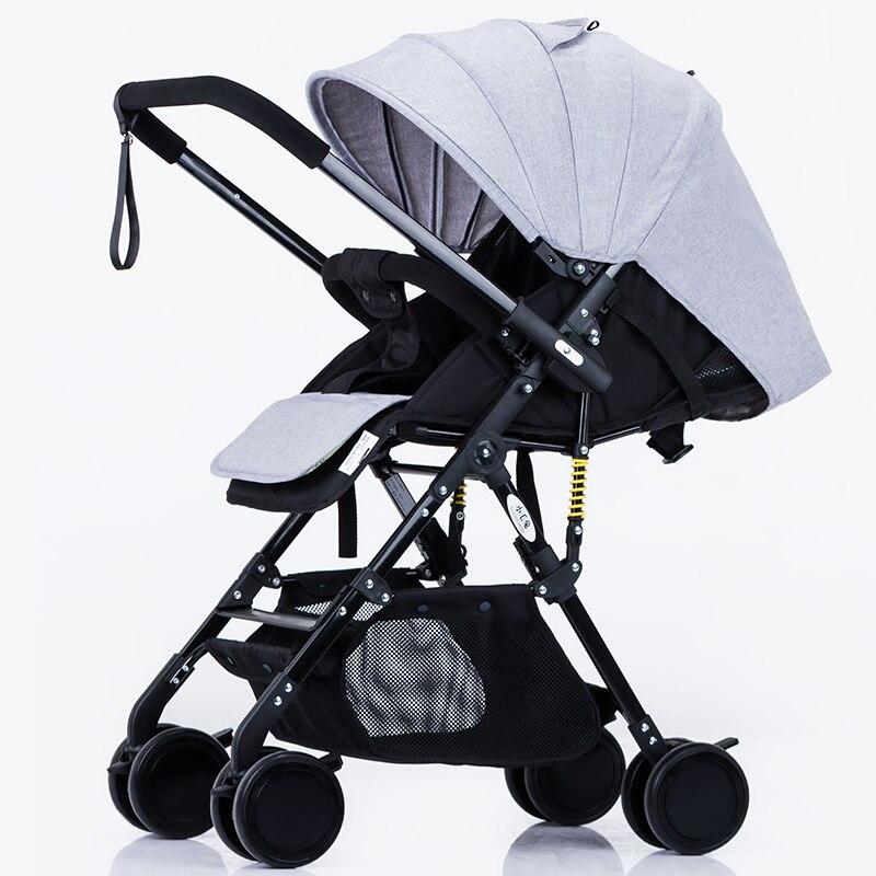 Китай дешевые легкий Детские коляски 6,9 кг складной свет может сидеть и лежать перевозки Багги коляска новорожденного автомобиля ...