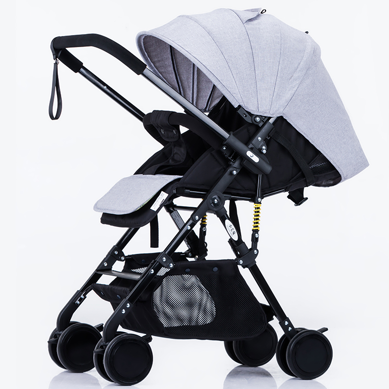 China cheap Lightweight Baby Stroller 6.9KG Folding light can sit and lie Carriage Buggy Pushchair Pram Newborn Infant Car baby stroller 4 free gifts folding carriage buggy pushchair pram high landscape newborn infant car 8 wheels