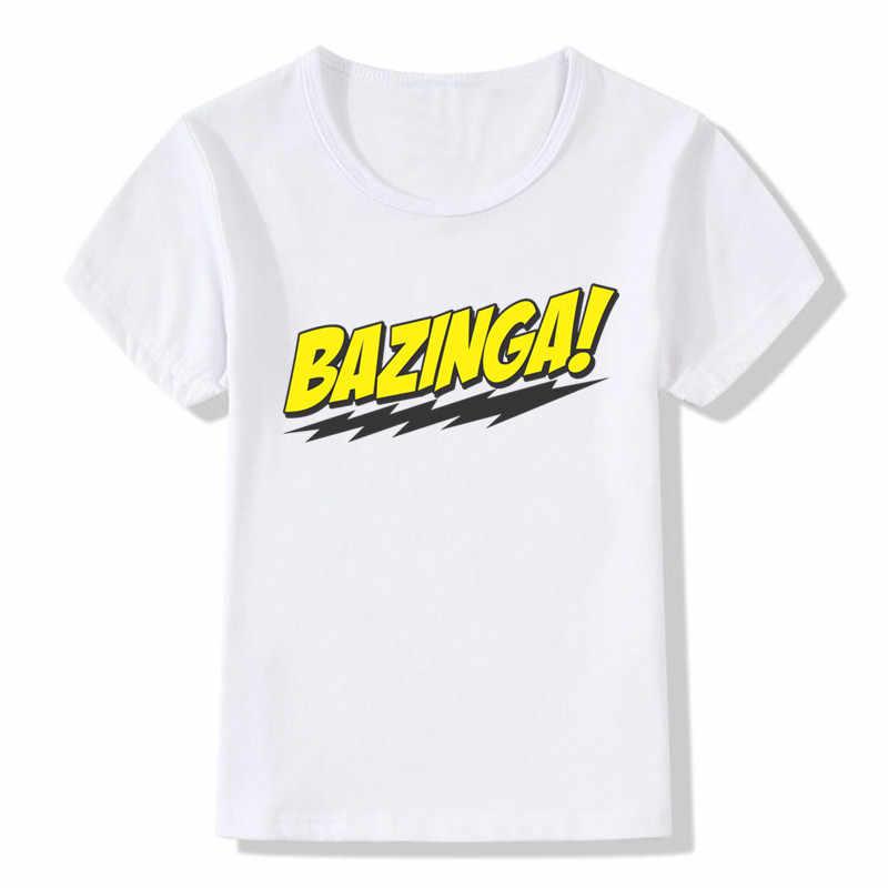 2019 enfants le Big Bang théorie Bazinga T shirt enfants décontracté à manches courtes hauts bébé garçons filles vêtements, ooo462