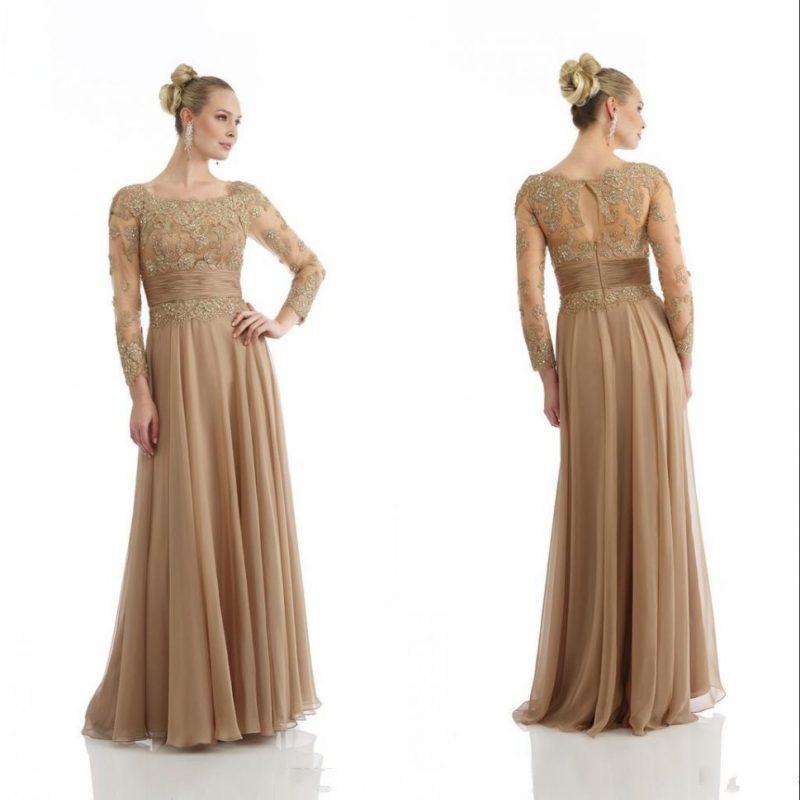 Elegant Long Mother Of The Bride Groom Dresses 2017