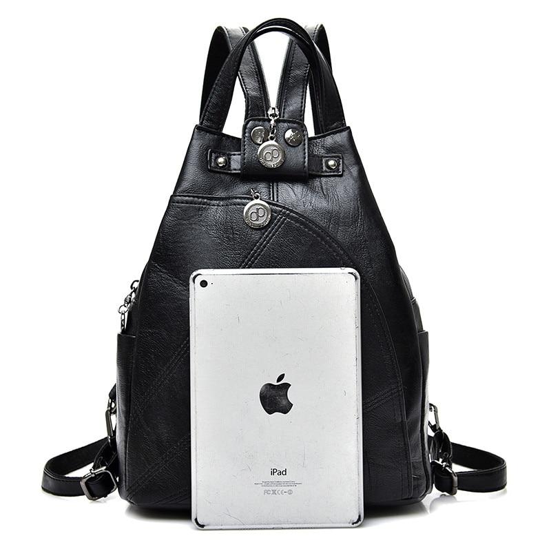 Fashion Leisure Women Backpacks Women's Pu Leather Backpacks Female School Shoulder Bags For Teenage Girls Travel Back Pack #6