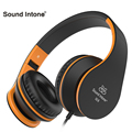 Sound intone i68 wired gaming headset smartphone plegables auriculares auriculares con micrófono y control de volumen para el iphone pc mp3