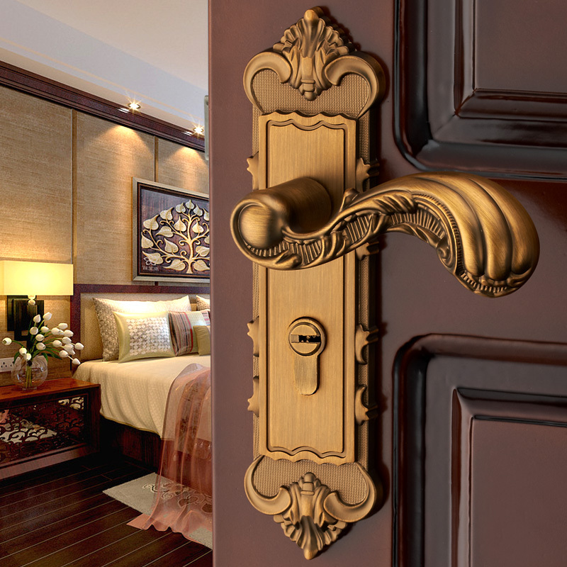 Buy european palace door handle lock - Door handles with locks for bedrooms ...