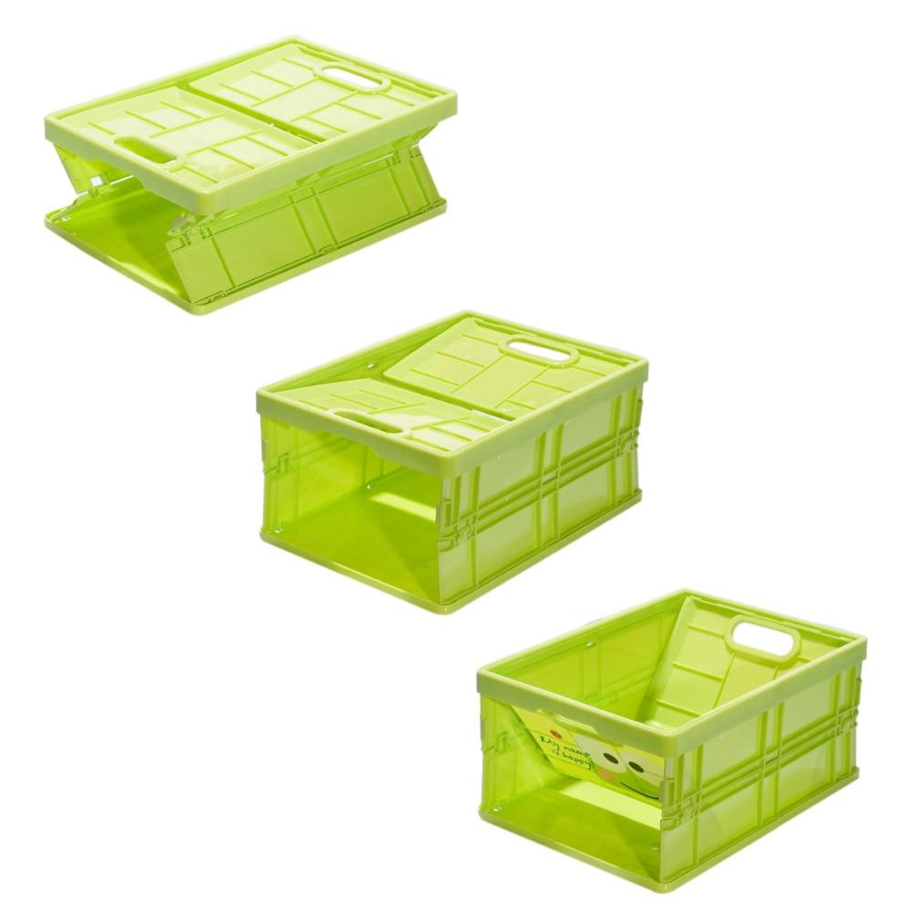 Retractable fodable plastic storage box folding storage box storage