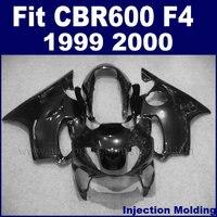 injection molding motor fairing for HONDA glossy black hulls CBR600 F4 1999 2000 CBR600F 99 00 fairings parts