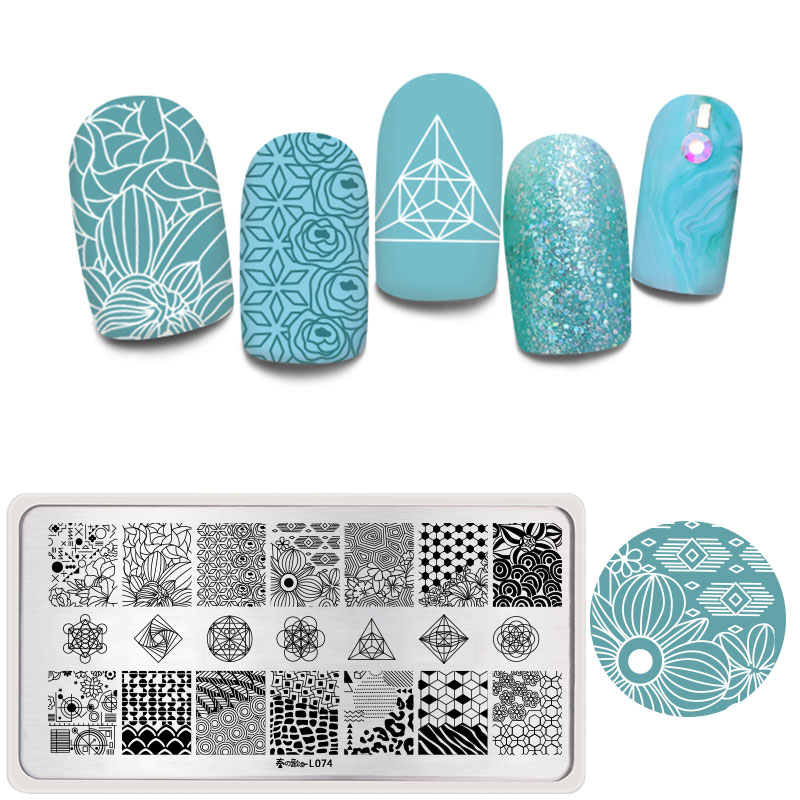Harunouta Nail Art Stamping Plates Floral Animal Lace Butterfly Line Image DIY Stamp Nails Stamp Stencils Manicure Plate