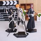 Bleach Kurosaki ichigo Abarai Renji Kuchiki Rukia Anime PVC Action Figures Collectible Toys 3pcs/set