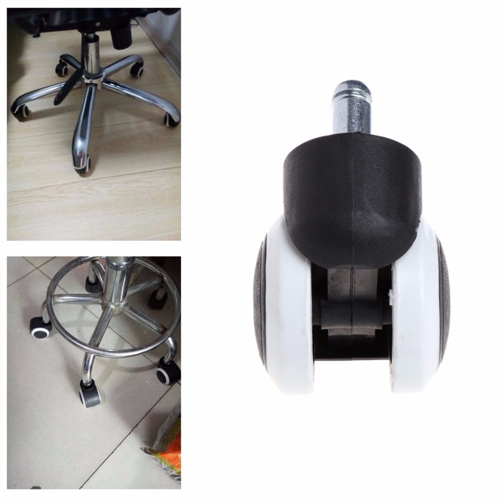 5 Pcs 2 Office Home Chair Swivel Casters Mute Wheel Universal Replacement