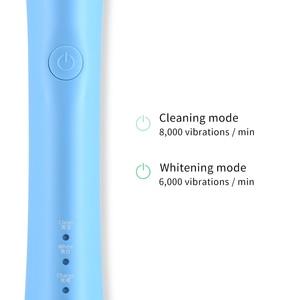 Электрическая зубная щетка с вращением на HERE-MEGA, перезаряжаемая сменная щетка для зубов, отбеливающая щетка с USB R02