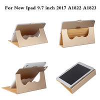 A1822 A1823 Ultra Thin Stand 360 Rotating Design PU Leather Case For New Ipad 9 7