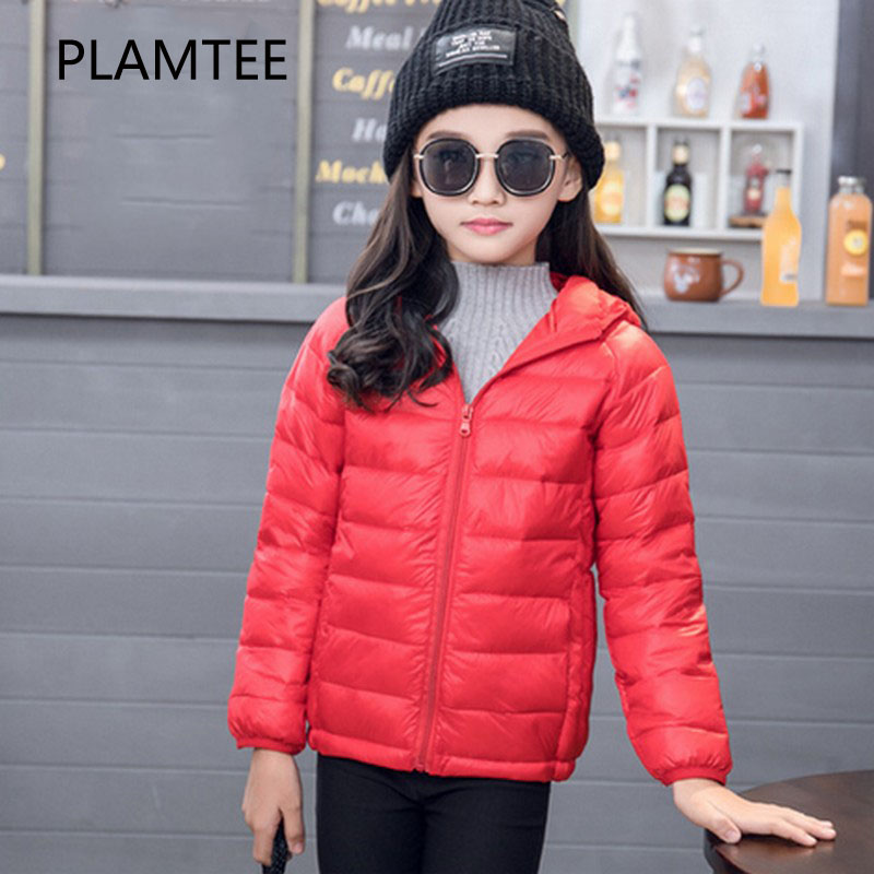 PLAMTEE Girls Winter Jacket Child Girl Coat Candy Color Hooded Infant Jackets Kids Boys Children Clothing Snow Fashion Outerwear free shipping 2016 kid girl fashion solid color wind coat outerwear child girl cappa dress jacket spring autumn winter girl coat