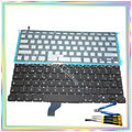 "Brand new Spanish SP Keyboard with Backlight & keyboard screws & screwdriver tools for Macbook Retina 13.3"" A1502 2013-15 Years"