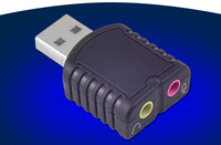USB Stereo Sound Card Adapter Converter Extra Audio Source Plug And Play For MAC