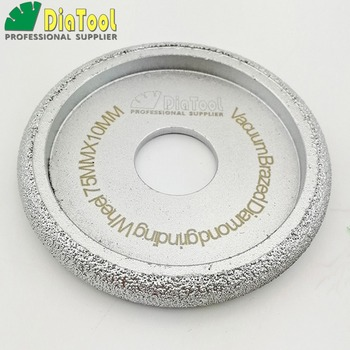 diatool dia75mmx30mm hand held grinding wheel vacuum brazed diamond flat grinding wheel profile wheel for stone artificial stone DIATOOL Dia75mmx10mm Vacuum Brazed Diamond CONVEX Wheel/Profile Wheel For Stone Artificial Stone Ceremics, Glass, Concrete....