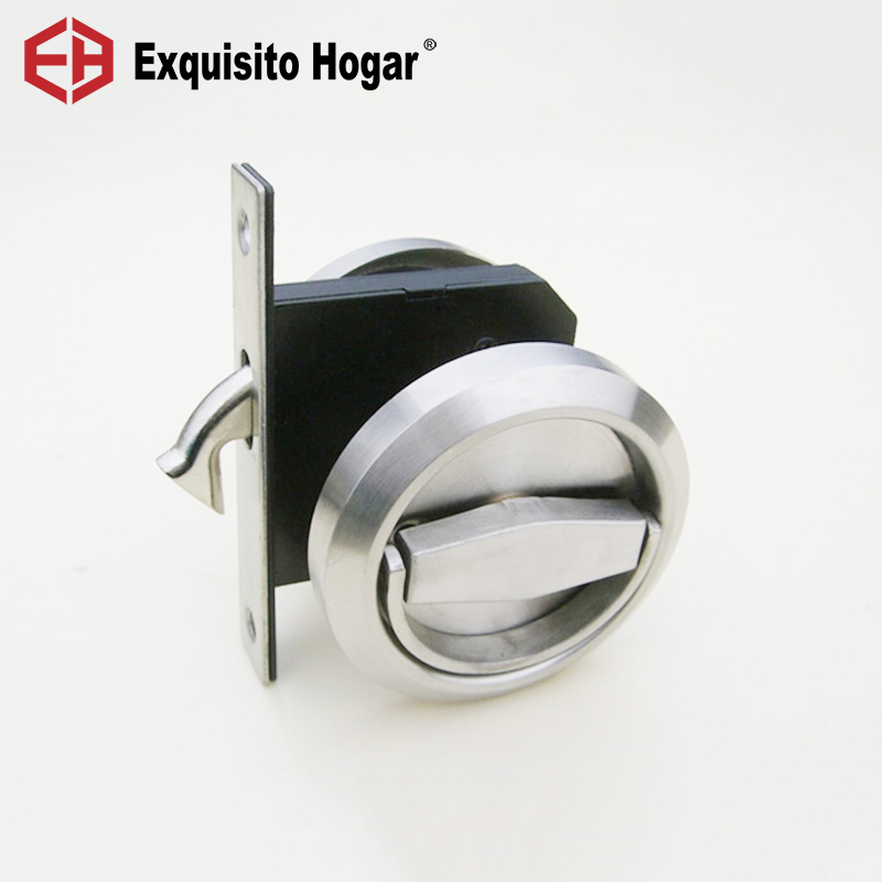Serrure noire de poche de porte de l'acier inoxydable 304 de décoration de porte d'or pour le matériel se pliant coulissant d'armoire