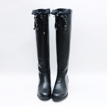 Women's Winter Lace Lace-up Genuine Leather Flats Knee Boots Brand Designer Comfortable Long Boots High Quality Shoes for Women