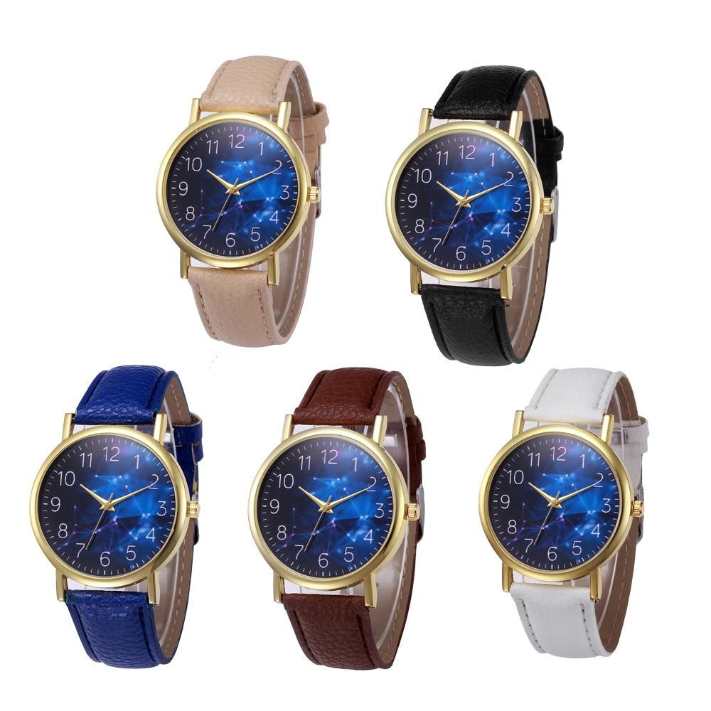 Montre Femme Quartz Watch Ladies Retro Design Leather Band Analog Alloy Quartz Wrist Watch 2018 A# woman s retro flower dial analog quartz wrist watch w pu leather band yellow brass 1 x 377