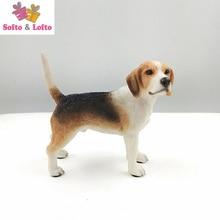 Качественная модель собаки из Бигля, ручная работа, искусственный щенок, Стайлинг автомобиля, украшение для дома вечерние подарки на вечери...